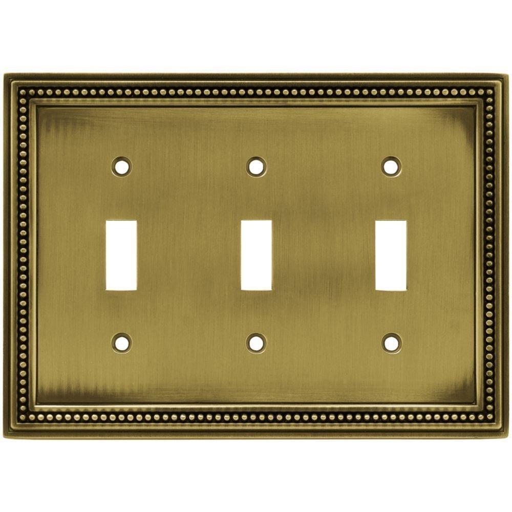数量は多い  ビーズ3 Toggle壁プレート – ビーズ3 B00NOHR6OO Tumbledアンティーク真鍮 – B00NOHR6OO, ウインクデジタル:7153d0ef --- svecha37.ru