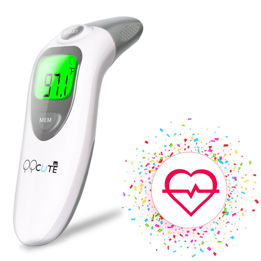 QQCute Digital Infrared Forehead Thermometer More Accurate Medical Fever Body Basal Thermometers Suitable For Baby Kid Adult