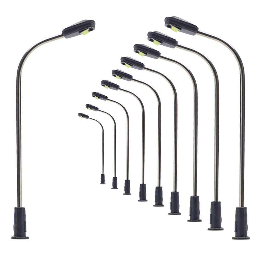 LQS05 10pcs Model Railway Train Lamp Post Street Light Bright Cool N Z Scale LEDs NEW