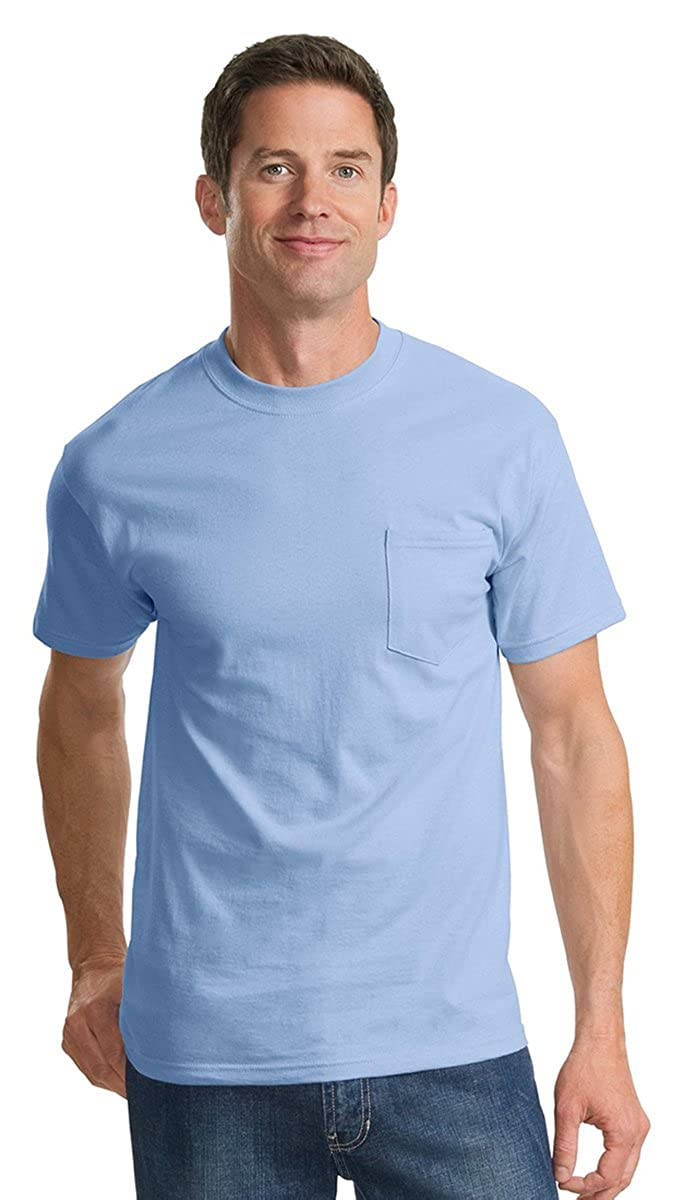 Available in 16 Colors Royal PC61P Port /& Company Cotton Short-Sleeve T-Shirt with Pocket