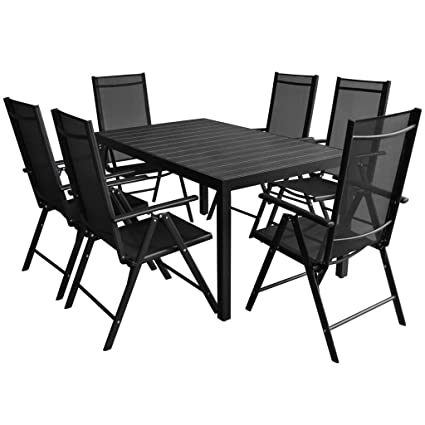 Peachy Festnight 7 Piece Aluminium Garden Dining Table And Chairs Set Outdoor Dining Set Garden Furniture Sets Onthecornerstone Fun Painted Chair Ideas Images Onthecornerstoneorg