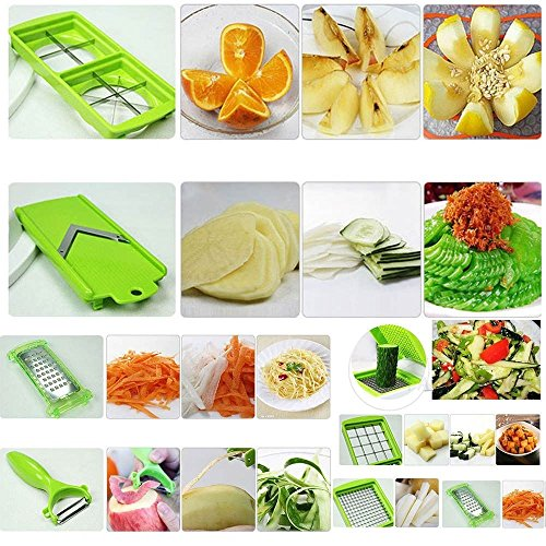 2012 Super Slicer Plus Fruit & Vegetable, Onion, Food Chopper Cutter Slicer As Seen on TV Multi Chopper 12 Pieces