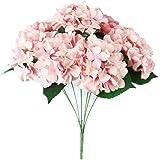 Covermason 7 Heads Bouquet, Artificial Hydrangea Silk Flower Bunch Home Hotel Wedding Party Garden Decor (Pink)