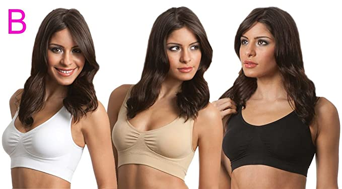 e4f438c0299 Women s Everyday Wear Genie Bra Seamless Wireless Yoga Gym Sports Running  Bra Pullover Wirefree Bra (Small