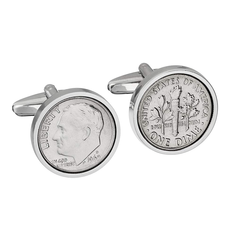 49th Birthday for Men- 1969 Genuine Coin Cufflinks- 100% Satisfaction Guarantee