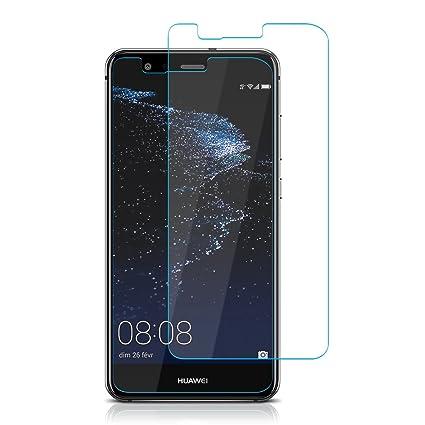 ELZO Protector Pantalla Huawei P10 Lite [2 Piezas], Cristal Vidrio Templado Premium 9H Dureza [3D Touch Compatible], Anti-Huella para Huawei P10 Lite