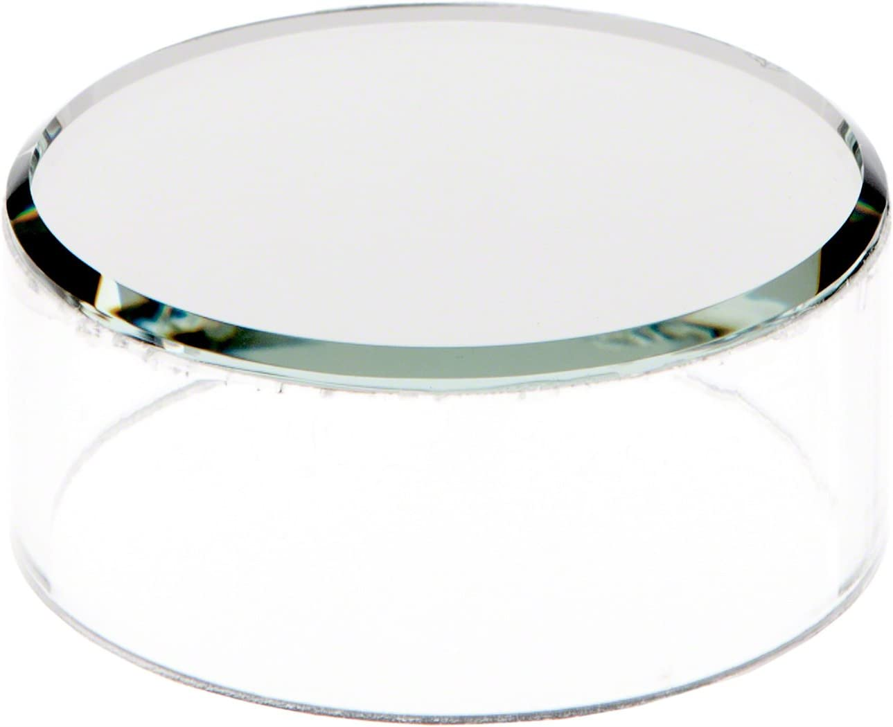 Plymor Clear Acrylic Cylinder Display Riser with Mirror Top, 1