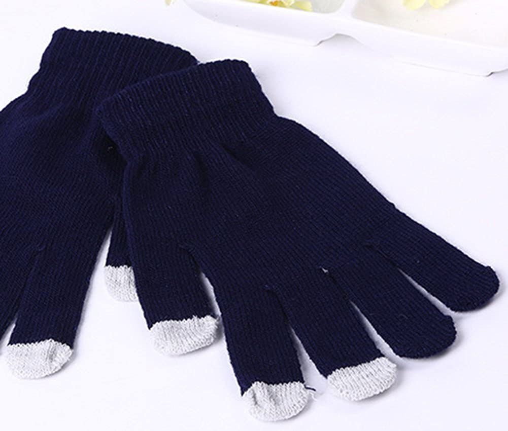 X/&F Womens and Mens Solid Touchscreen Mittens Texting Gloves for Smartphone GL1311123