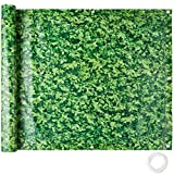 TecTake Balcony Privacy Screen Windbreak Panel Wind Protection | Weather-resistant, Water and Dirt resistant - different Colours and Sizees (0,9 x 6 m Green Foliage | No. 402711)