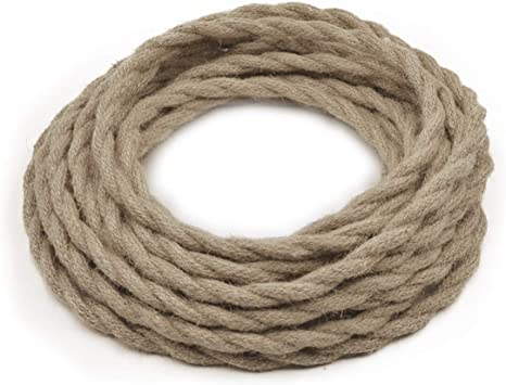 per foot-18 ga LAMP ac cord,GREEN twisted 2-wire CLOTH covered