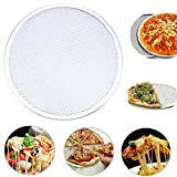 WHOSEE 14-Inch Seamless Aluminum Pizza Screen Baking Tray Metal Net Bakeware Kitchen Tool