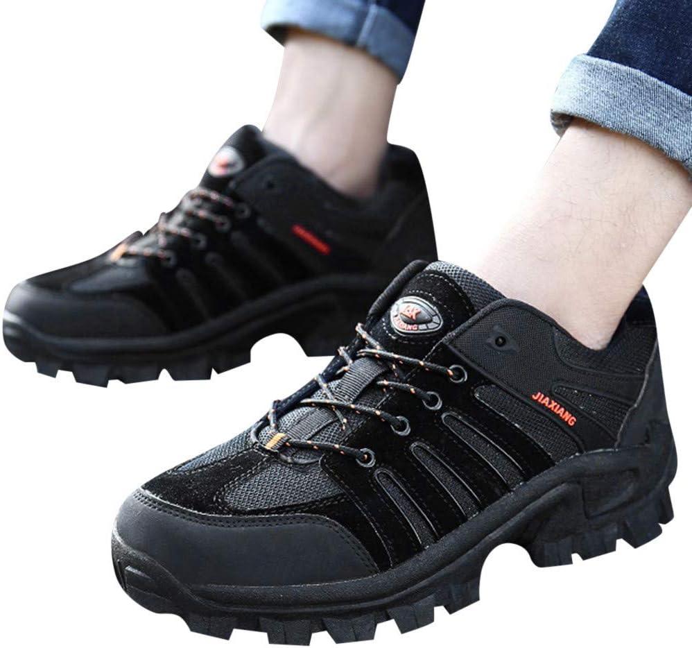 Zapatillas de senderismo para hombre, ligeras, para exteriores, para trekking, senderismo, neopreno, zapatillas de deporte, zapatillas veganas, zapatos de montaña, zapatos de trekking, zapatos altos, Hombre, Negro , 45: Amazon.es: Deportes y