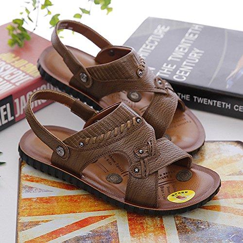 Selling Well Summer Die neuen Sandals Sandalen Männer Drive Massage Beach Schuhe, Khaki, UK = 7,5, EU = 41 1/3