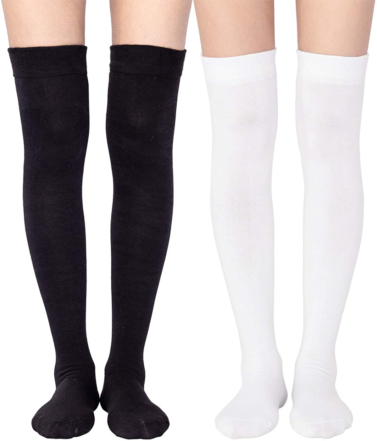 Cotton Blend Playing Card Over The Knee Socks