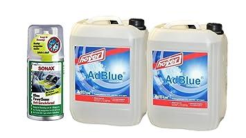 Adblue 2 x 10 L Bidón de hoyer con boquilla para Audi, VW, MB