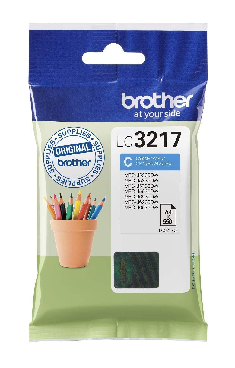 Brother LC3217C Cartucho de tinta cian original para las ...