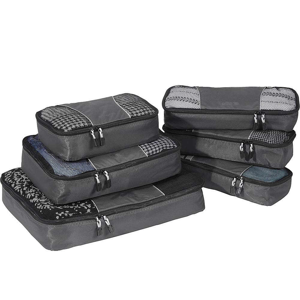 eBags Classic Packing Cubes for Travel - 6pc Value Set - (Titanium) by eBags