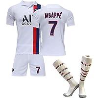 Paris shirt 20-21 Paris thuisshirt met korte mouwen voetbaluniform, heren Mbappé nr. 7 kinderteamuniform voetbaluniform