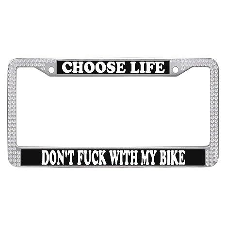Amazon.com: Dasokao Car Tag License Plate Frames - CHOOSE LIFE DON\'T ...