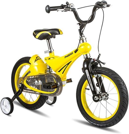 XQ TL-104 bicicletas amarillas para niños 3-13 años de edad, niña ...