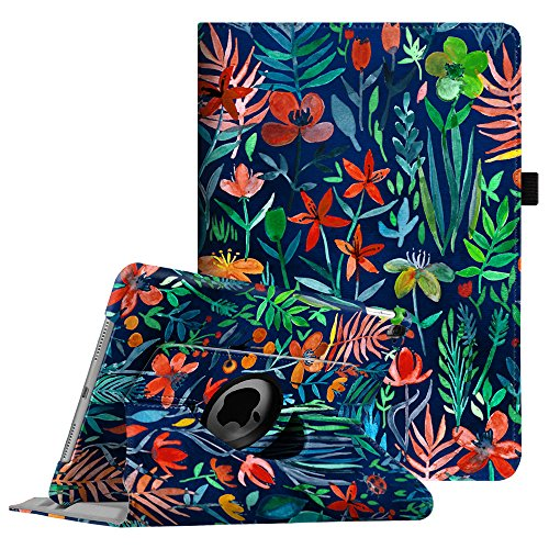 Fintie iPad Pro 9.7 Case - 360 Degree Rotating Case with Smart Stand Cover Auto Sleep/Wake Feature for Apple iPad Pro 9.7 inch (2016 Version), Jungle Night