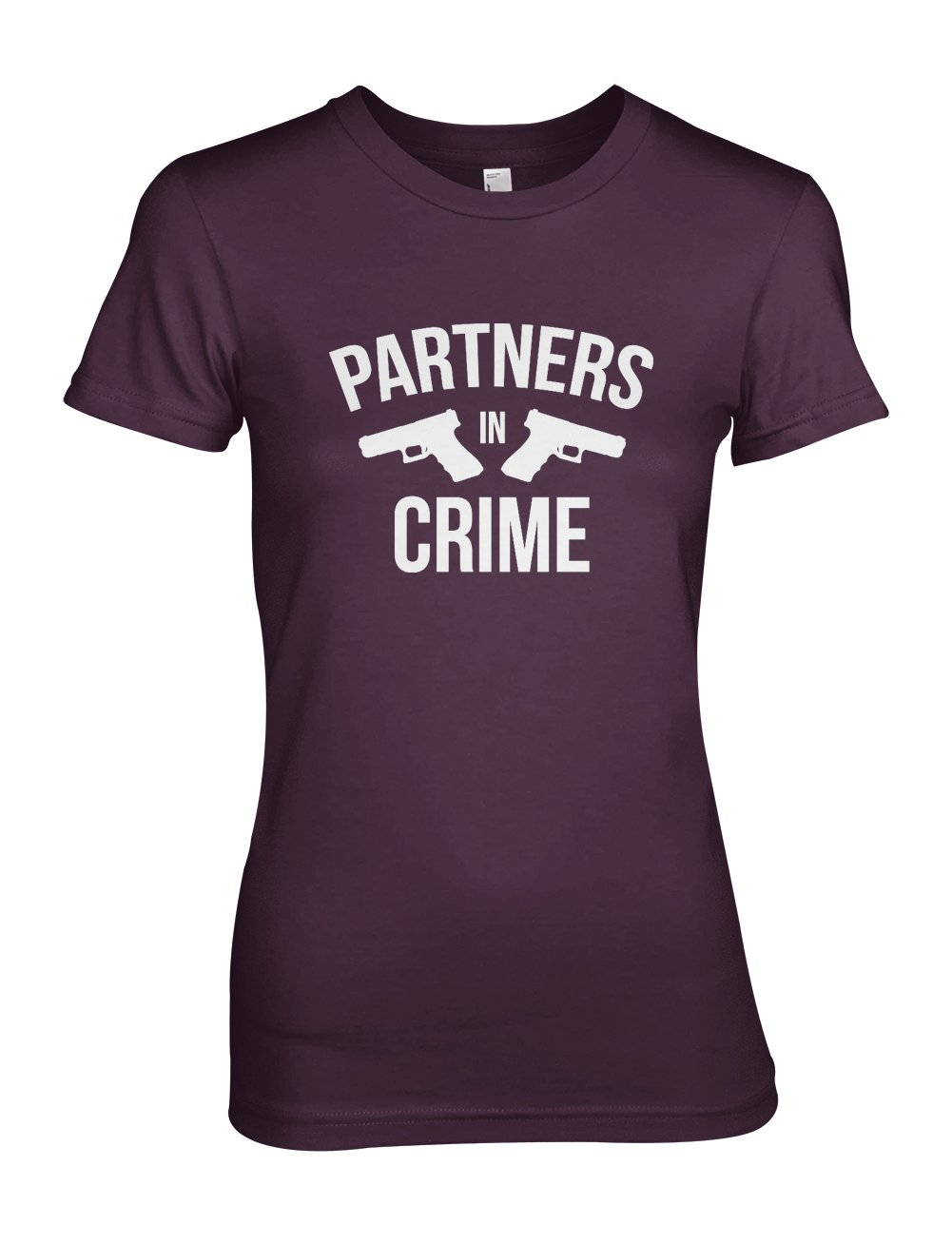 Partners In Crime Funny Pistols Cool T Shirt Purple 1307