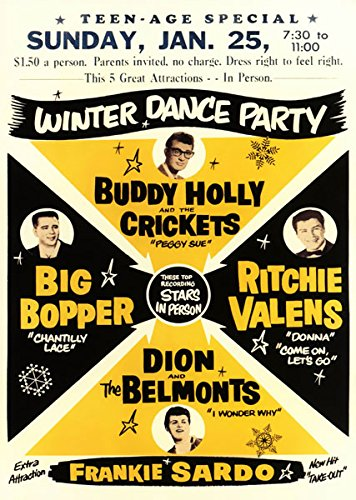 - Affiche Prints RR21 Vintage Buddy Holly American Rock & Roll Concert Gig Band Advertisement Poster Print - A3 (432 x 305mm) 16.5