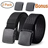 "JASGOOD 2 Pack Nylon Belt Outdoor Military Web Belt 1.5"" Men Tactical Webbing Belt"