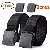 cloth belt - JASGOOD 2 Pack Nylon Belt Outdoor Military Web Belt 1.5