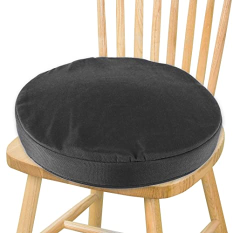 Wondrous Summerkimy Water Resistant Chair Cushions With Ties Round Bistro Chair Seat Pad Waterproof Indoors Outdoors For Garden Home Office Dining Room Black Cjindustries Chair Design For Home Cjindustriesco