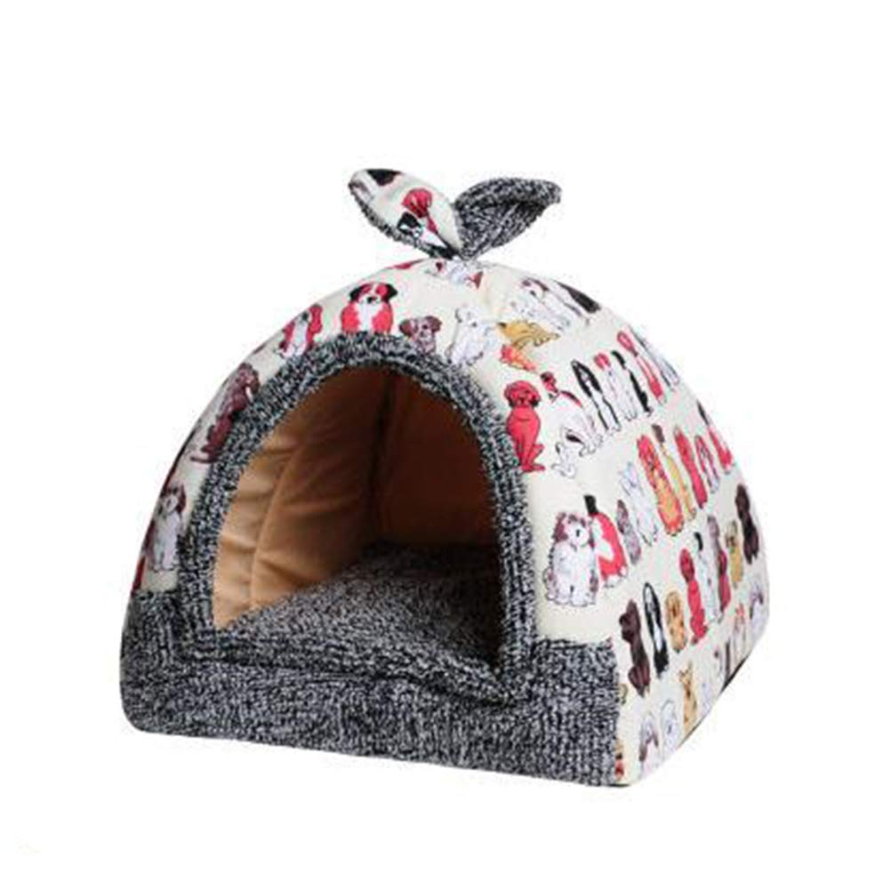 B 30cm30cm35cm B 30cm30cm35cm Fabric Cat Bed, Warm, Cozy and Durable Cat Bed, Suitable for Large Cats and Kittens(30cm30cm35cm,B)