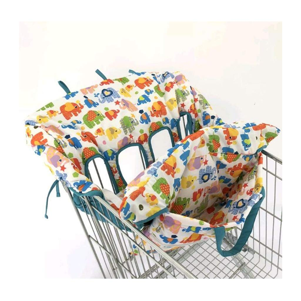 4 Leg Holes Shopping Cart Cover for Twin Double Safety High Chair Seat Pad Baby Folding Shopping Cart Seat Cover (Type C)