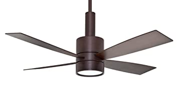 casablanca c43g546l bullet 54inch ceiling fan and light brushed cocoa motor with reversible