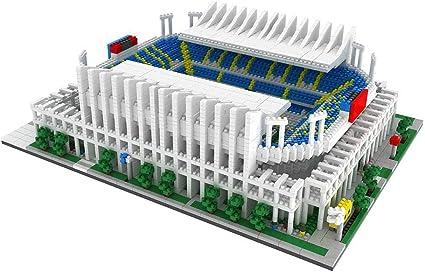 Málaga Rose Garden Stadium Modelm, Sports Stadium 3D Model, Fans Souvenir DIY Plastic Building Blocks Puzzle Building Model (4685, 11