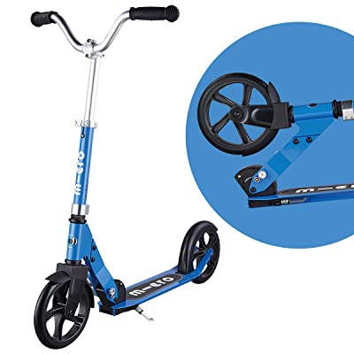 Micro Cruiser Big-Wheeled, Low-Ride, 2-Wheeled Foldable Micro Scooter for Kids and Teens, Ages 8 and up - Blue : Sports & Outdoors