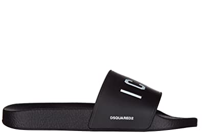 Sandales En Dune Caoutchouc Chaussons Mules Homme Icon Dsquared2 0OPmwv8Nyn