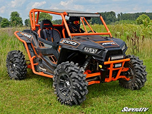 Super ATV Red Front Bumper Polaris RZR 1000 / Turbo