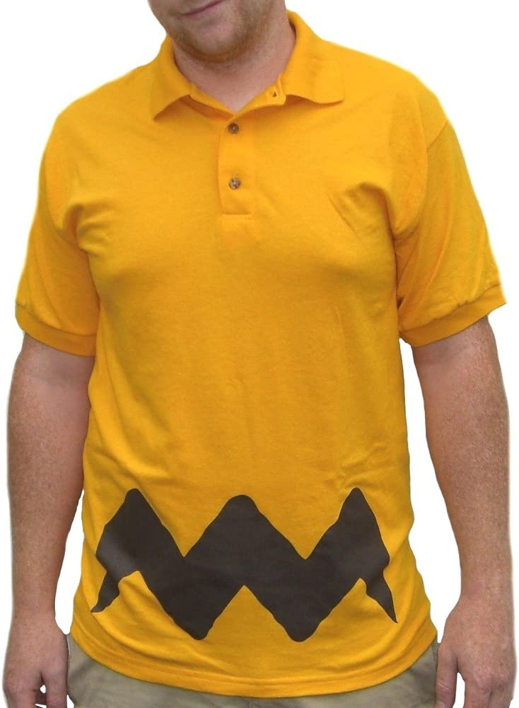 MyPartyShirt Charlie Brown Polo T-Shirt-Youth Large: Amazon.es ...
