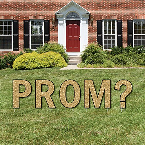 (Big Dot of Happiness Promposal - Yard Sign Outdoor Lawn Decorations - Prom Proposal Yard Signs -)