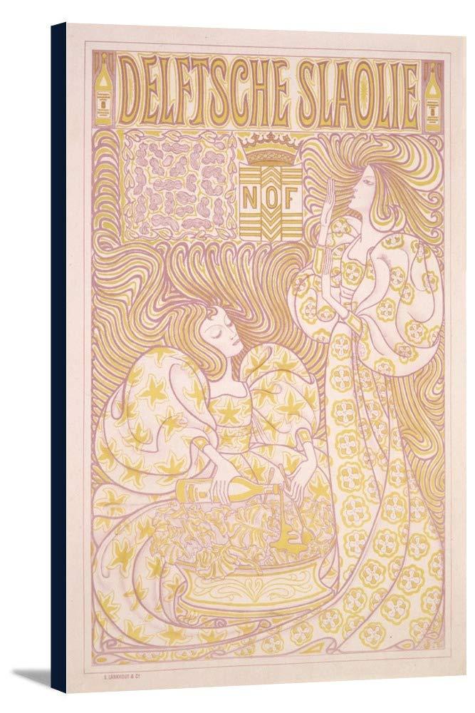 Delftsche slaolieヴィンテージポスター(アーティスト: Toorop )オランダC。1895 12 x 18 Gallery Canvas LANT-3P-SC-74900-12x18 12 x 18 Gallery Canvas  B01EBQGESA
