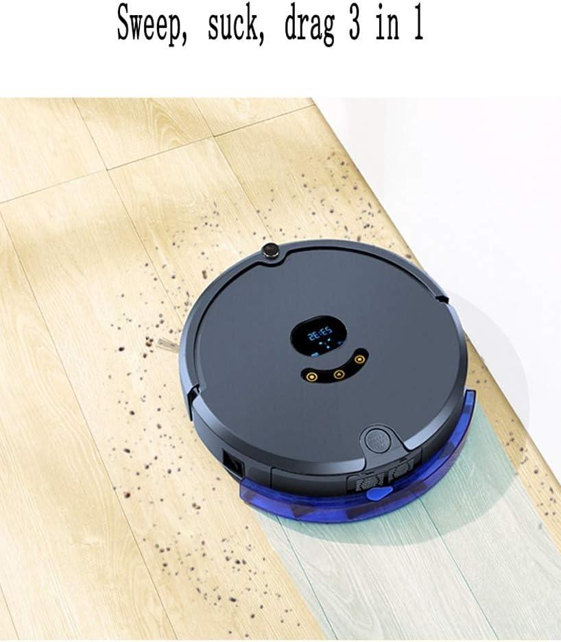 Aspirateur robot, aspirateur d\'économie d\'énergie avec la haute performance de nettoyage for les cheveux des animaux de nettoyage, tapis et sols durs (Color : Pink) Pink