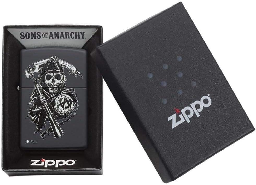 Zippo Sons of Anarchy - Encendedor de cocina (Negro, Color blanco ...