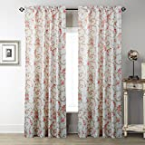 """IYUEGO Lovely Scroll Grass Pattern Rod Pocket Top Lined Blackout Curtains Draperies With Multi Size Custom 100"""" W x 108"""" L (One Panel)"""