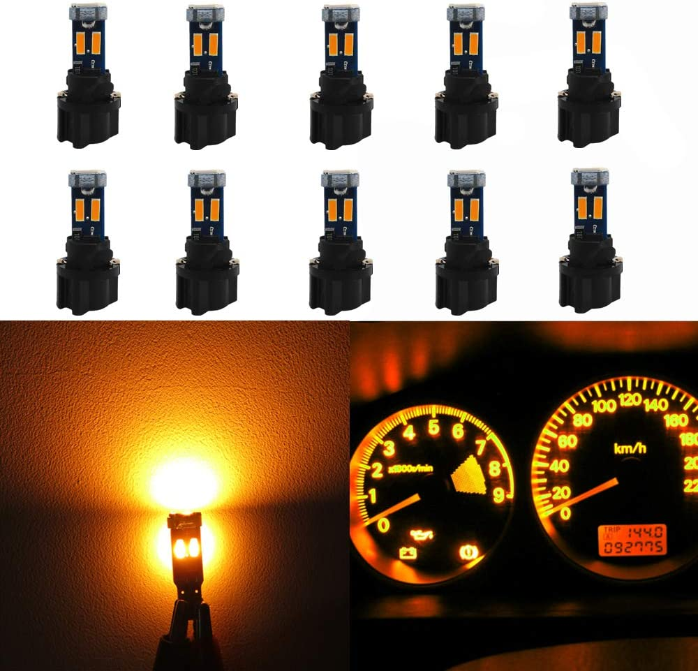 1x Car Light Bulb T3 LED Wedge Instrument Cluster Climate Base Lamp Gauge Dash z