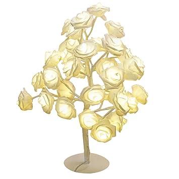 Lámpara de Mesa Creativo LED Rosa cumpleaños Luces led de la Tabla del día de San Valentín Paquete romántico Rosa apoyos diseño (Color : B): Amazon.es: ...