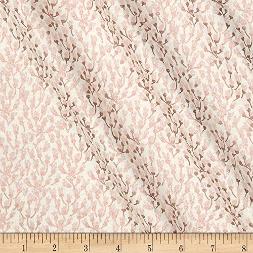 - Riley Blake Designs 0568446 Riley Blake Blush Metallic Petals Sparkle Cream Fabric by The Yard,