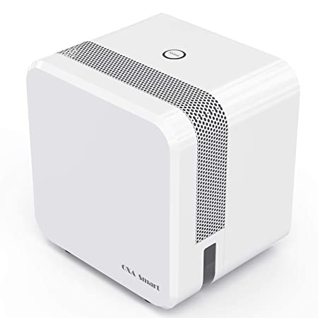 Electric Mini Dehumidifier for Home, 1200 Cubic Feet 215 sq ft , 22oz Capacity Compact and Portable Small Dehumidifiers with Two Mode, Ultra Quiet Auto-Off Dehumidifiers for Bedroom, Closet, Kitchen