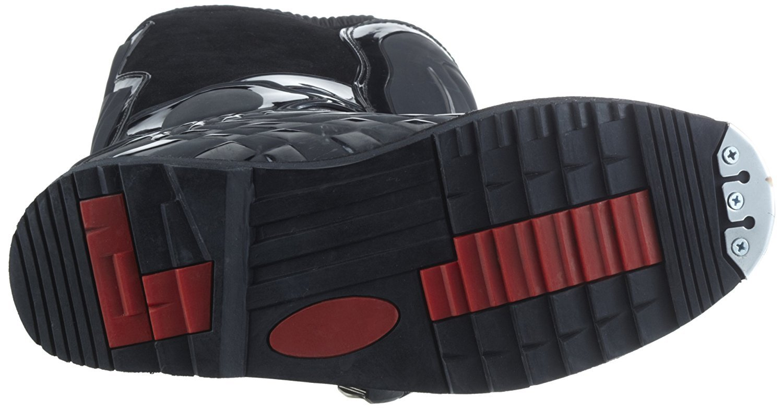 protectWEAR Crossstiefel, Endurostiefel Racing aus Leder mit Kunsstoffschnallen, Schwarz, 46