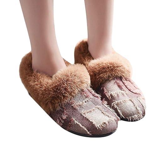 f2ccac3af07d7 Zapatos de Vestir Plano para Mujer Otoño Primavera PAOLIAN Calzado Lona  Fiesta Elegantes con Lana Termicas Suave Cómodos Zapatos Suela Blanda Dama  para ...