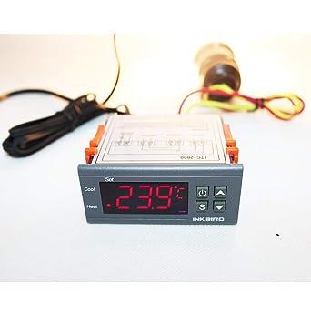 Inkbird ITC-1000 12V - Dispositivo para Control de Temperatura con Sensor, Coche y